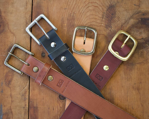 Vegetable Tanned Leather Belt w/ Brass Hardware